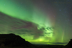 The end of the chase. (Pete 5D...©...) Tags: lights borealis green iceland south auroraborealis sky clouds clear northern