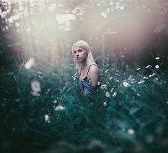 Garden Elf (Rachel.Rosemarie) Tags: girl garden outside nature mystical fantasy ethereal elf make believe makebelieve grass flowers wildflowers bees bee nikon d610 50mm
