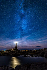 Galactic guardian (Richard Larssen) Tags: richard richardlarssen rogaland reflections larssen landscape light lighthouse dalane norway norge norwegen nature night milkyway milky way eigersund egersund emount eigeroy eigery eigeryfyr eigeroyfyr eigerylighthouse eigerya eigeroylighthouse fyr a7ii astrophotography astro samyang samyang14mmf28