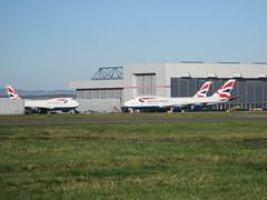 Busy BAMC. (aitch tee) Tags: cardiffairport britishairways maintenance bamc boeing b747400 cwlegff maesawyrcaerdydd walesuk