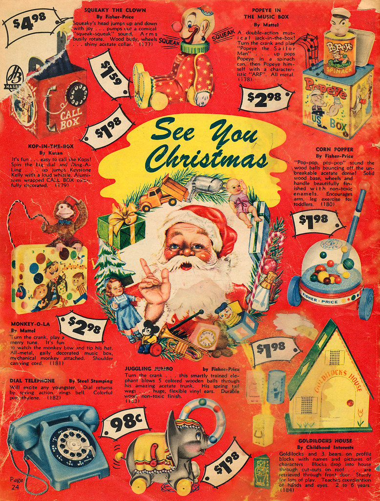 toy catalog 1958 neshachan tags toycatalog catalog christmas christmascatalog xmas berkeleysprings popeye