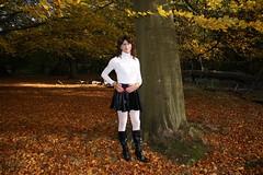 IMG_5304 (Kira Dede, please comment my photos.) Tags: kiradede kirad 2016 crossdresser copenhagen lingerie stockings upskirt dyrehaven
