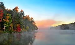 Carson Lake (anj_p) Tags: madawaskavalley fall autumn ontario carsonlake provincialpark colors mista fog morning sunrise foliage lakes