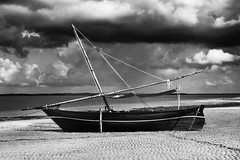 Dow (Rohan.R) Tags: ocean sea beach clouds sailboat boat cloudy kenya sail fujifilm lamu x10 dow fujifilmx10