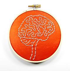 Brain Anatomy Hoop Art. Hand Embroidered Wall Decor (Hey Paul Studios) Tags: psychiatry creativity embroidery zombie brain health mindfulness alzheimers mental socialwork positivethinking hoopart medicalart