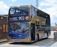 Stagecoach Oxford 15966 (YN14 PKZ) Chichester 29/6/14 (jmupton2000) Tags: festival speed gold south route 400 shuttle alexander dennis goodwood stagecoach scania chichester enviro 902 southdown yn14pkz