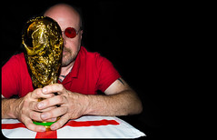 The World Cup 2014, just an England supporter. (CWhatPhotos) Tags: world pictures red portrait england sun cup saint st self canon ball that photography foot eos prime gold glasses george football foto with cross image artistic pics fifa picture taken pic images shades replica have photographs photograph fotos crop 7d come trophy 60mm which footy georges contain comeonengland cwhatphotos