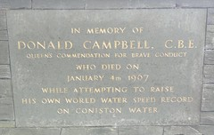 "Donald Campbell Memorial Plaque, Coniston • <a style=""font-size:0.8em;"" href=""http://www.flickr.com/photos/9840291@N03/14533699509/"" target=""_blank"">View on Flickr</a>"