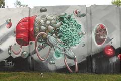 step in the arena 2014 (Pixeljuice23) Tags: netherlands germany graffiti friendlyfire monkeymask pixeljuice thepixel stepinthearena2014