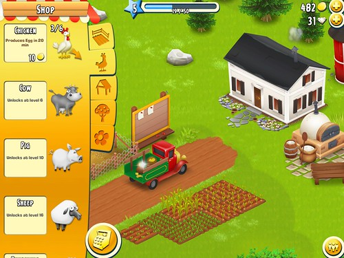 Hay Day Items Store: screenshots, UI