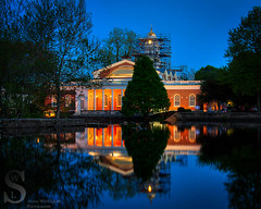 Milford City Hall-2 (Singing With Light) Tags: water night photography evening spring pentax cityhall connecticut may ct milford 18 duckpond k3 2014 lowerduckpond singingwithlight singingwithlightphotography