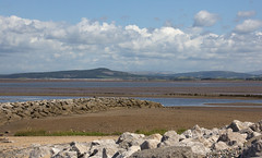 Layers (Deborah S-C) Tags: summer seascape mountains beach nature water beauty stone clouds landscape sand rocks scenic lancashire estuary hills cumbria summertime barrow channels fishtail morecambebay oldpier lakedistrictmountains august2014 oldseadefence newseadefence