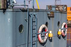 Pick Your Porthole (ColinParte) Tags: industry docks commerce harbour belfast porthole 1957 weathered funnel floatingcrane