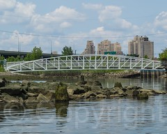 BRIDGE K894: Ethel Pesin Liberty Pedestrian Bridge over Morris Canal Big Basin, Jersey City, New Jersey (jag9889) Tags: bridge usa river newjersey jerseycity crossing unitedstates footbridge unitedstatesofamerica nj kayaking hudsonriver paddling waterway gardenstate libertystatepark pedestrianbridge 2014 hudsoncounty northriver jag9889 k894 20140721