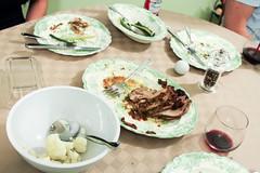 (deanmackayphoto) Tags: china green beer dinner table pepper bottle wine silverware bean roast pork cauliflower 23 budweiser utensil greenbean 50couchesin50nights