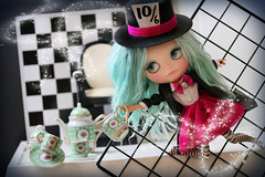 Blythe A Day ~ July 2014 ~ Day 27:  Mad Hatter's Tea Party