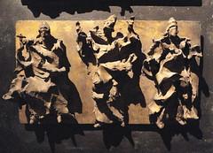 Lucio Fontana (1899-1968), Bozetto per la porta del Duomo di Milano-Porta intera(II grado)   Maquette pour la porte de la cathdrale de Milan-Porte entire(2e tape) 1951-52 /fonte en 1961 (michelle@c) Tags: city paris milan art motif museum modern bronze muse moderne cathdrale figure porta castiron porte material motive duomo baroque fonte ville 1951 maquette luciofontana matire bozetto rtrospective michellecourteau