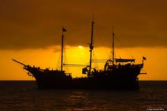Sunset Shadows (Jose Carrillo   Photography & Video) Tags: sunset seascape canon landscape mexico atardecer fire rocks puertovallarta pirateship marigalante