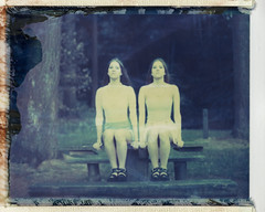 Vanda & Fanni (kittacabe) Tags: portrait film beautiful polaroid twins 180 analogue expired 669 polaroid669 instantfilm polaroidinstantfilm instantimageie