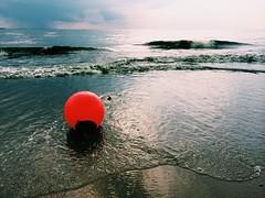 red (Alexey Tyudelekov) Tags: red sky beach water waves gulf petersburg finnish float buoy laskoviy