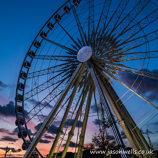 Liverpool wheel at dusk