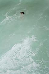 (mioke exhibition views) Tags: ocean water swimming mirror acrylic paintings wave moki mioke
