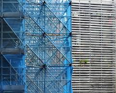 bluescaff (Harry Halibut) Tags: wood blue art net public wooden scaffolding timber steel images frame scaffold slats allrightsreserved liverpoolarchitecture liverpoolbuildings colourbysoftwarelaziness imagesofliverpool 2014andrewpettigrew publicartinliverpool liverpool1407290362