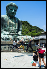 At the Great Buddha (Joni Kantonen) Tags: travel boy people woman man travelling girl japan person japanese tokyo buddha kamakura great young teenagers teens teen sight