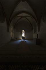 Palais des rois de Majorque / La chapelle basse (Lanarius) Tags: dark silhouettes palais roussillon chapelle perpignan catalan majorque
