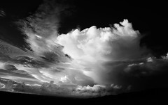 a stormy portuguese summer... (ibo.h) Tags: summer bw portugal clouds stormy thunderstorm algarve cloudscape