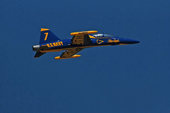 First in Flight RC Jet Rally 2014 - Blue Angel (John. Romero) Tags: radio plane canon airplane photography fly flying photo nc airport control aircraft aviation air rally flight jet first hobby airshow planes carolina wilson remote tamron rc flyin