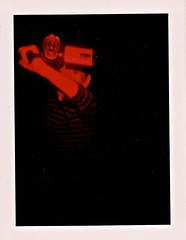 Red Alert (Dead  Air) Tags: boy holga child darkness police son redflash badge lennon iv coloredflash
