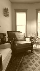 Sepia (Kenneth Wesley Earley) Tags: pakistan mobile sepia butterfly chair spokane bernhardt livingroom mobilephonecamera spokanewa upholstery bokhara handmaderug upholsteredchair 99205 bernhardtfurniture htconem8 spokanewa99205
