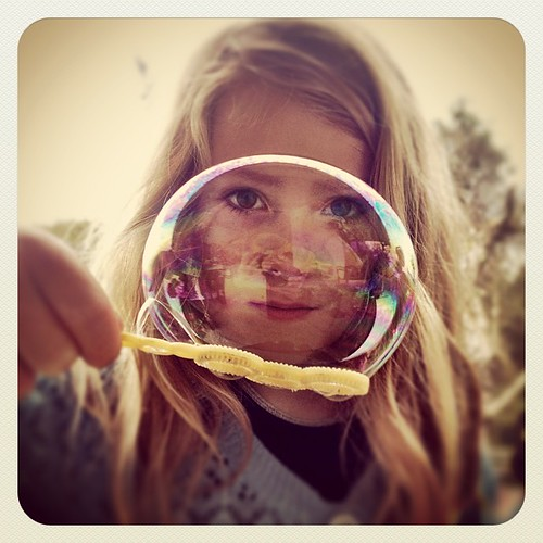 365/226 • bubble - taken by M • #2014_ig_226 #love #6yo #fascination #iaddedthefilters