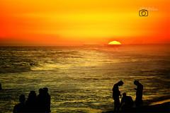 Sunset at Newport Pier (by Gilbert Barco) Tags: california travel bridge sunset sea seascape art beach water club landscape seaside nikon surf piers ships newport nights nikkor scape d5200