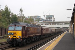 57313 at Kensington Olympia, 11.9.2014 (Woodvale) Tags: train railway olympia kensington 57313