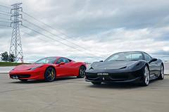 CuteCouple (Cody Kim Photography) Tags: black hot sexy italia power duo rich sydney engine ferrari spyder exotic performace rims rosso rare supercar v8 458