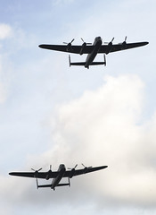 Avro Lancasters over Stamford 2014 (buzzer999) Tags: wwii lancaster ww2 stamford bomber raf avro
