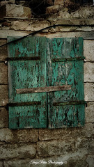 A Window To The Past (Terezaki ) Tags: old trip travel blue holiday green art window beauty stone architecture island photography sony hellas z past corfu kerkyra pictureperfect greekisland agiosprokopios theperfectphotographer xperia natureselegantshots sonyxperia