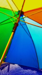 Etwas Regen (eagle1effi) Tags: umbrella raindrops regen regenschirm regentropfen rainbowcolors iso8000 samsunggalaxys5
