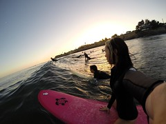 08/31/14 Sunset Surf Sesh (BOMBTWINZ) Tags: sunset surf waves woody surfing hibiscus surfboard longboard wetsuit ripcurl 38th longboarding surfergirl gopro springsuit blackedition bombtwinz hero3plus bombshellseries