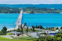 KOURIJIMA (TK's photography) Tags: road travel light shadow sea sky seascape nature colors japan canon landscape island highway marine asia surf landmark lagoon okinawa ef