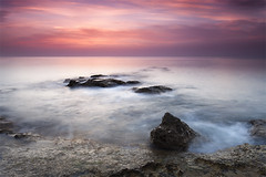 Ephemeral Sunrise (DavidFrutos) Tags: longexposure red sea costa naturaleza seascape hot color colour beach nature water rock clouds sunrise landscape coast mar rojo agua rocks warm waves fineart wave playa paisaje alicante amanecer filter le lee nubes nd canondslr olas roca rocas ola waterscape filtro largaexposicin filtros gnd clido neutraldensity canon1740mm gnd8 graduatedneutraldensity densidadneutra davidfrutos cabocervera 5dmarkii hitechreversegnd06 singhraygnd09