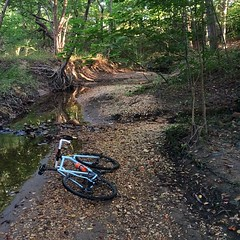 River bed shred! #weavercycleworks #custombicycles #rideinthewoods