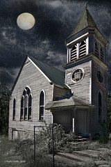 Church Of The Enchanted (jackalope22) Tags: moon halloween church clouds rural mood decay iowa spooky enchanted