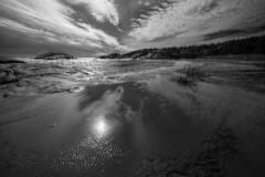 Mer et lumire 2 (Patrice StG) Tags: sea blackandwhite bw mer clouds sand gulf noiretblanc sable nb qubec northshore stlawrence stlaurent nuages golfe ctenord d700