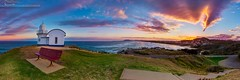 Taking point lighthouse sunset (DavidGeoffreyGosling Photography) Tags: sunset panorama lighthouse point pastel tacking tackingpoint portmacqurarie
