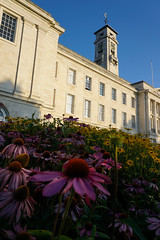 Trent Building and Flowers, University of Nottingham (Shamraze/Nuhaize) Tags: classical campanile portland stone white morning early university nottingham england sony a6000 british uk tower clock architecture outdoor building flowers grass complex tree flower clocktower