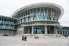 The new science museum and education centre in Pyongyang, North Korea (DPRK) (tommcshanephotography) Tags: adventure asia communism dprk democraticpeoplesrepublicofkorea expedition exploring kimilsung kimjungil kimjungun northkorea pyongyang revolution secretcompass travel trekking
