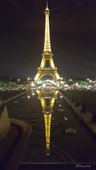 reflejos del trocadero (Kilmar2010) Tags: paris nocturna nightview reflejos reflects spiegel torreeiffel eiffeltower eiffelturm